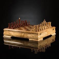 Шахматы Стаунтон люкс (карельская береза/бубинга) AVTSH4