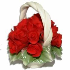 Декоративная корзина Artigiano Capodimonte 0210/29/red
