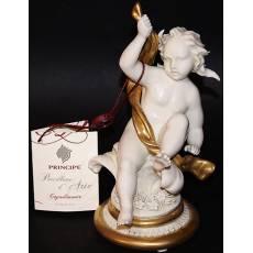 """Статуэтка """"Ангелочек с золотым шарфом"""" Porcellane Principe 1039/PP"""