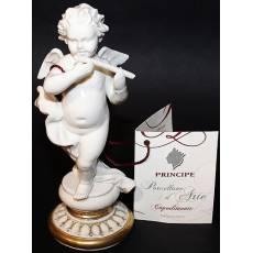 """Статуэтка """"Ангел с флейтой"""" Porcellane Principe 1052B/PP"""
