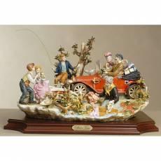"""Статуэтка """"Прогулка в сельской местности"""" Venere Porcellane D Arte V/127"""