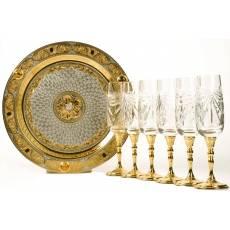 Набор для шампанского Златоуст  RV3530CG