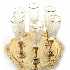 """Набор для шампанского """"Торжество"""" Златоуст RV0010568CG"""