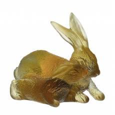 """Статуэтка """"Кролики"""" янтарный Daum 05131"""