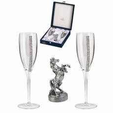 """Набор для шампанского """"Лошадь встающая на дыбы"""" Chinelli 3101500"""