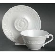 """Чайная чашка с блюдцем """"Louvre White"""" BERNARDAUD 89LouvreWhite"""