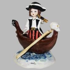 """Статуэтка """"Пират на лодке"""" Zampiva 00345/Z"""