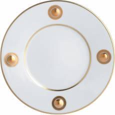 """Тарелка десертная с золотым рисунком """"Ithaque Or"""" BERNARDAUD 3868IthaqueOr"""