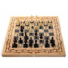 """Янтарные шахматы """"Готика"""" (Карельская береза) ES029"""