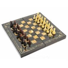 "Шахматы ""Арабески-Тина"" Янтарные (Мореный дуб) ES027"