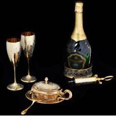 """Набор для шампанского """"Сомелье"""" Златоуст Авторские работы RV0022173CG"""