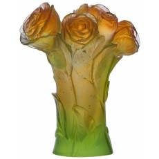 """Ваза для цветов золотисто-зеленая """"Pivoine"""" Daum 05215-4"""