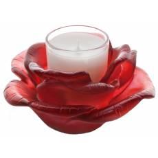 """Подсвечник на 1 свечу """"Rose Passion"""" красный Daum 05368-2"""
