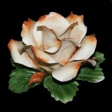 """Подсвечник """"Роза"""" Artigiano Capodimonte 016/cream"""