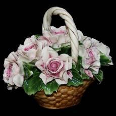 Декоративная корзина Artigiano Capodimonte 0210/19/pink