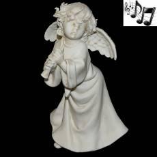 """Статуэтка музыкальная """"Ангел с дудочкой"""" Venere Porcellane D Arte V/220 T"""