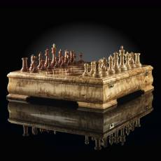Шахматы Стаунтон Люкс Мини (Карельская береза / бубинга) AVTSH11