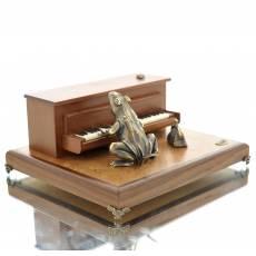 """Скульптура бронзовая """"Жаба-пианистка"""" Авторские работы RV0020318CG"""