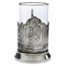 """Подстаканник никелированный """"Пушкин"""" со стаканом RV0036751CG"""
