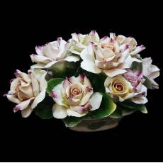 "Декоративная корзинка ""Чайные розы"" Artigiano Capodimonte 288/AC/mix"