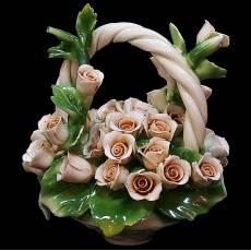 Декоративная корзина Artigiano Capodimonte 0210/24/cream