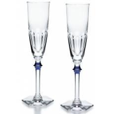 """Набор из 2-х синих фужеров для шампанского """"HARCOURT EVE"""" Baccarat 2811092"""