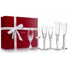 Набор из 6-и фужеров для шампанского Bubble Box Baccarat 2811434