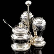 Набор для специй Серебро 875* в футляре RV0040403CG