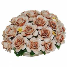Декоративная корзина с розами Artigiano Capodimonte 0210/18/cream