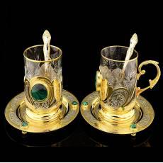 Чайный набор на 2 персоны. Златоуст RV0046761CG