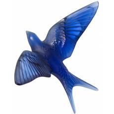 "Настенная статуэтка Ласточка ""Hirondelles"" синяя Lalique 10624900"