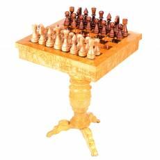 Шахматный стол из дерева (карельская береза) RV0049126CG