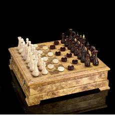 Шахматы / шашки деревянные (фигуры из янтаря) RV04011CG