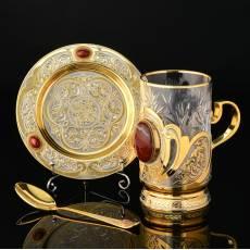 Чайный набор с кабошоном из натурального камня RV0024974CG