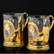 Чайный набор на две персоны Златоуст RV8579CG