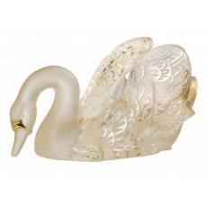 """Статуэтка """"Лебедь"""" с головой вниз золотой Lalique 10584400"""