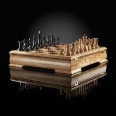 Шахматы Стаунтон Люкс (карельская береза / макассар), ограниченная серия AVTSH132