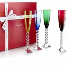 """Набор из 4-х бокалов для шампанского """"VEGA FLUTISSIMO"""" Baccarat 2812557"""