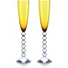 """Набор из 2-х жёлтых бокалов для шампанского """"VEGA"""" Baccarat 2811803"""