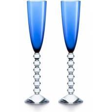 """Набор из 2-х синих бокалов для шампанского """"VEGA"""" Baccarat 2811804"""