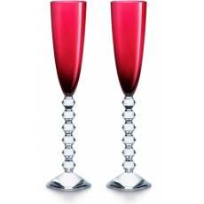 """Набор из 2-х красных бокалов для шампанского """"VEGA"""" Baccarat 2811806"""