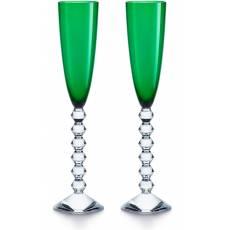 """Набор из 2-х зелёных бокалов для шампанского """"VEGA"""" Baccarat 2811805"""