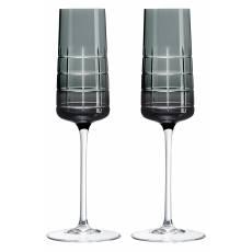 """Набор из 2-х фужеров для шампанского """"Graphik"""" (h=22) Christofle 07946010"""