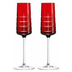 """Набор из 2-х фужеров для шампанского """"Graphik"""" (h=22) Christofle 07946110"""