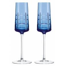 """Набор из 2-х фужеров для шампанского """"Graphik"""" (h=22) Christofle 07946210"""