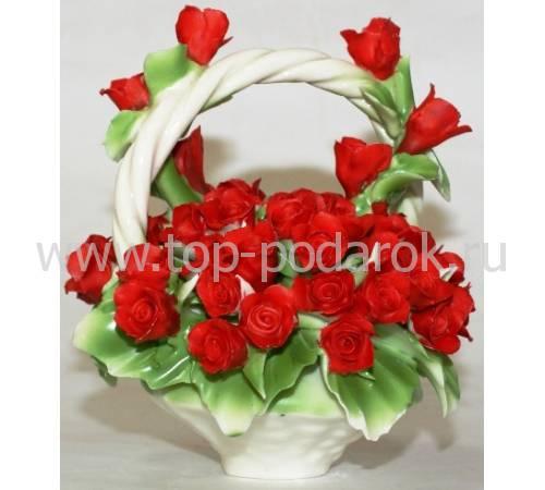 Декоративная корзина Artigiano Capodimonte 0210/24/red