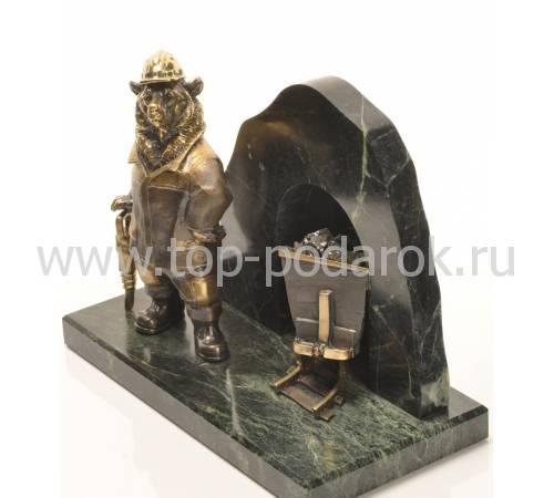 """Скульптура """"Медведь шахтёр"""" RV12268CG"""