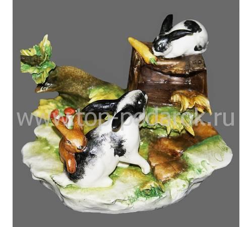 "Статуэтка ""Кролики"" Porcellane Principe 553/PP"