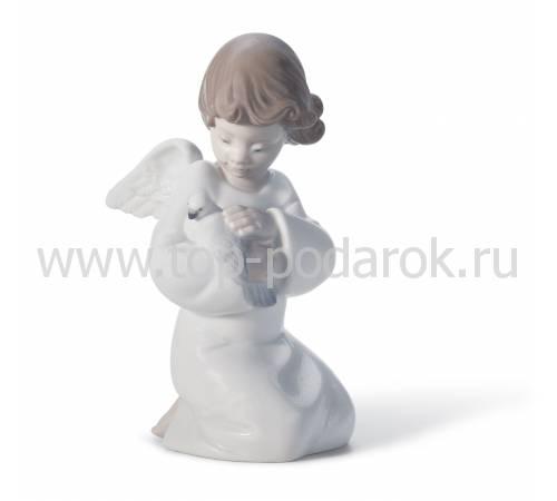 """Статуэтка ангелочка """"Защитник любви"""" Lladro 01008245"""
