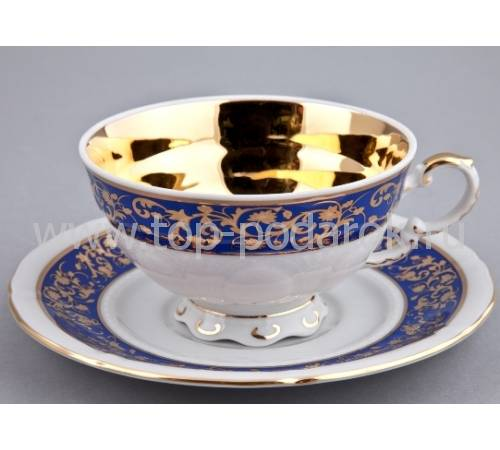 """Чашка чайная с блюдцем """"National Traditions"""" Rudolf Kampf 07120425-1824k"""